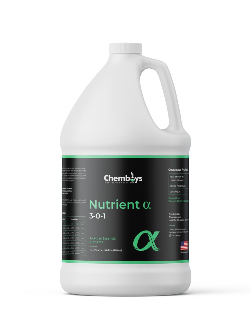 Nutrient Line Alpha Gallon Bottle